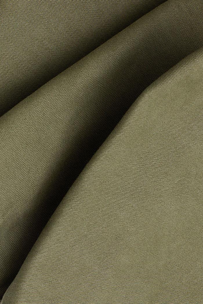 Spodnie bojówki z bawełny organicznej, KHAKI GREEN, detail image number 4