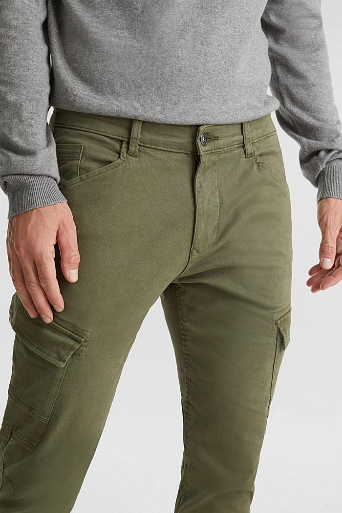 Spodnie bojówki z bawełny organicznej, KHAKI GREEN, detail image number 5