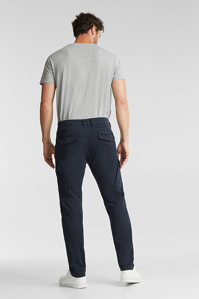 Cargo trousers in organic cotton, DARK BLUE, detail image number 3