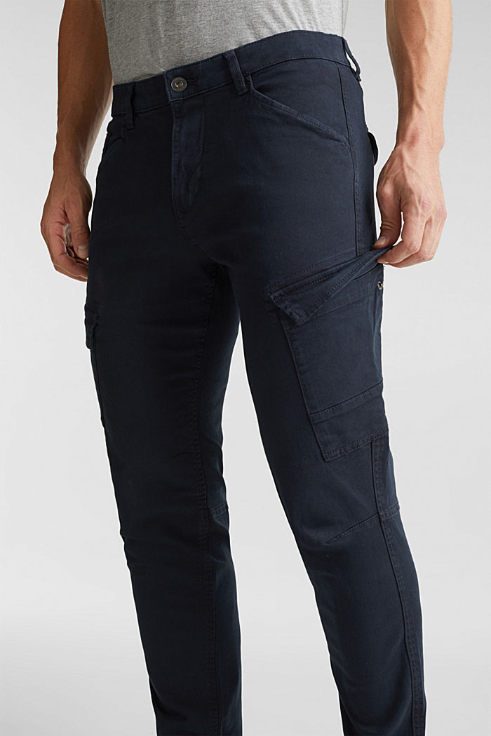 Cargo trousers in organic cotton, DARK BLUE, detail image number 2