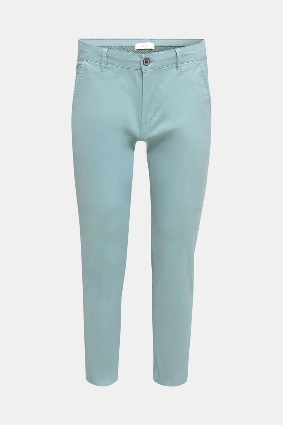 Stretch cotton chinos, TEAL GREEN, detail image number 5