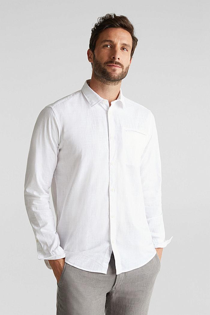 Shirt made of 100% organic cotton, WHITE, detail image number 0