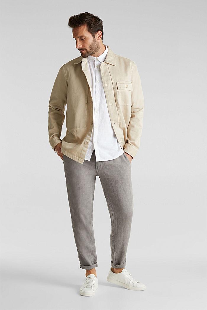 Shirt made of 100% organic cotton, WHITE, detail image number 1