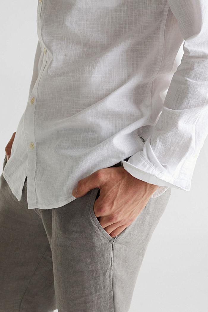 Shirt made of 100% organic cotton, WHITE, detail image number 2
