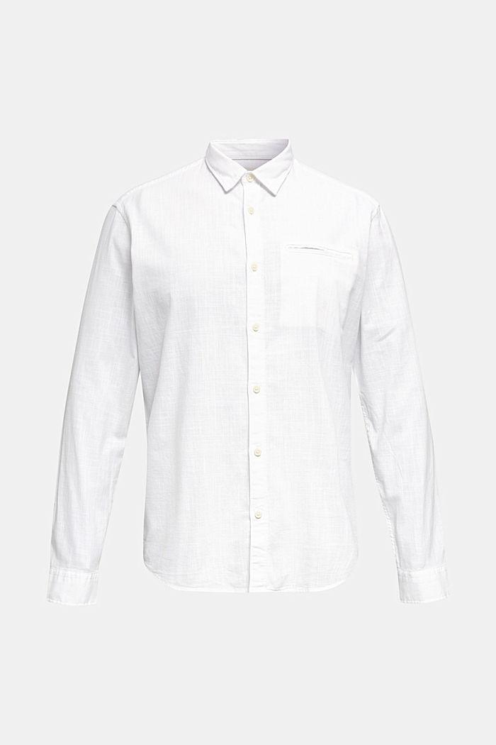 Shirt made of 100% organic cotton, WHITE, detail image number 7