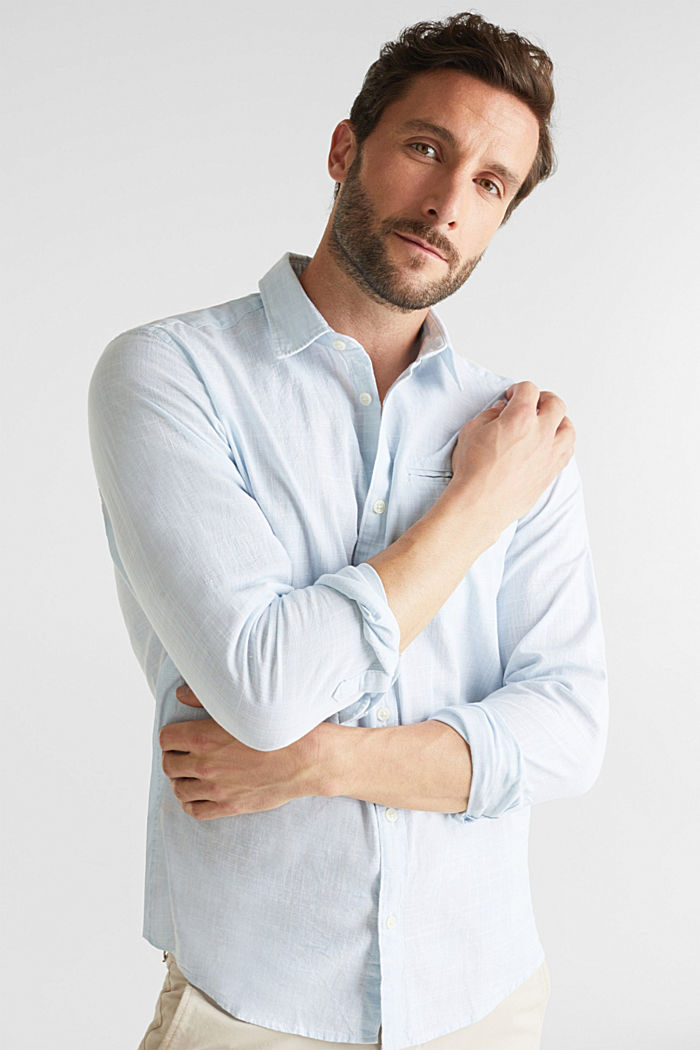 Shirt made of 100% organic cotton, LIGHT BLUE, detail image number 0