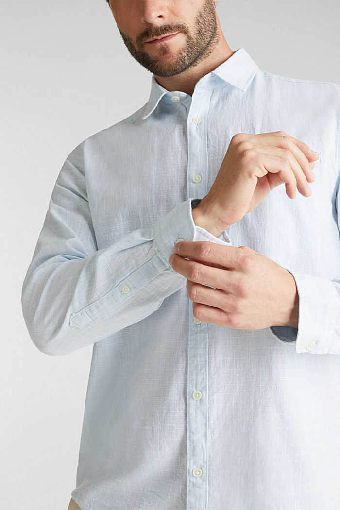 Shirt made of 100% organic cotton, LIGHT BLUE, detail image number 2