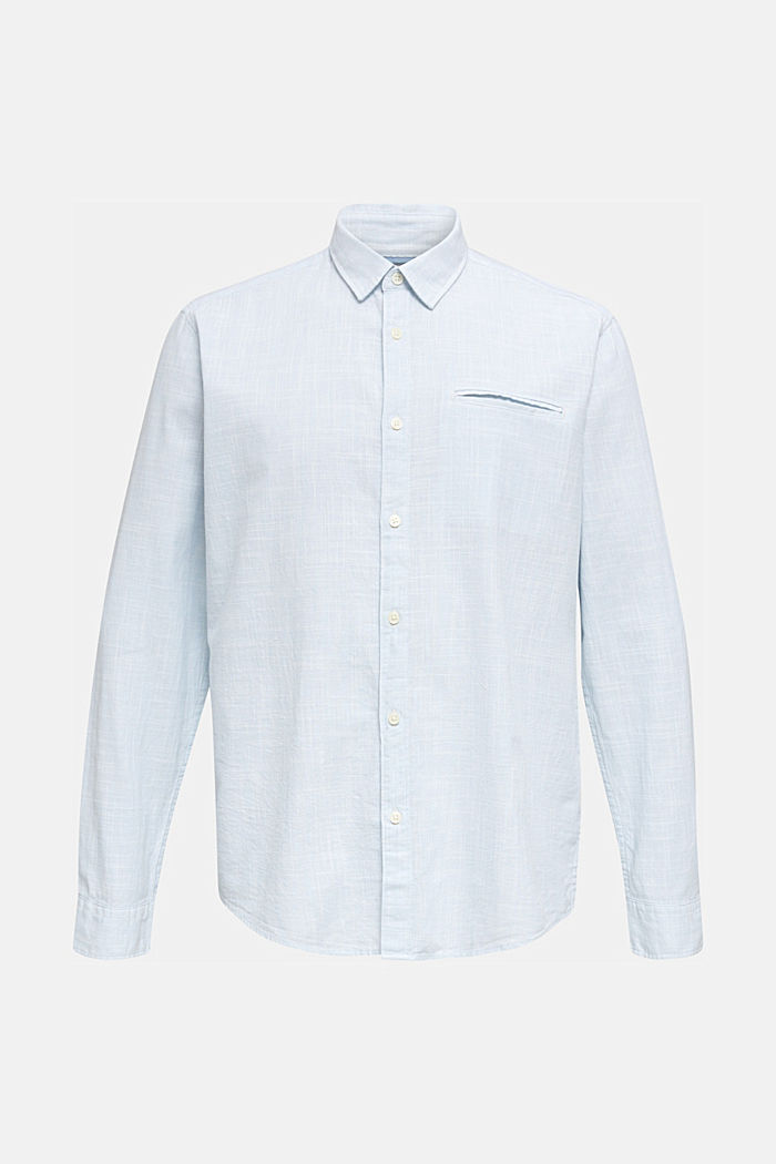Shirt made of 100% organic cotton, LIGHT BLUE, detail image number 5