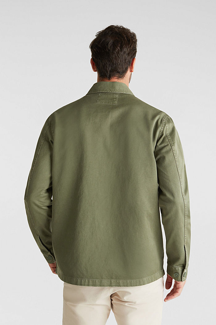 Overshirt made of 100% organic cotton, KHAKI GREEN, detail image number 3