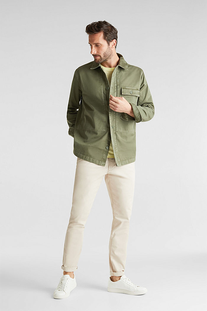 Overshirt made of 100% organic cotton, KHAKI GREEN, detail image number 1
