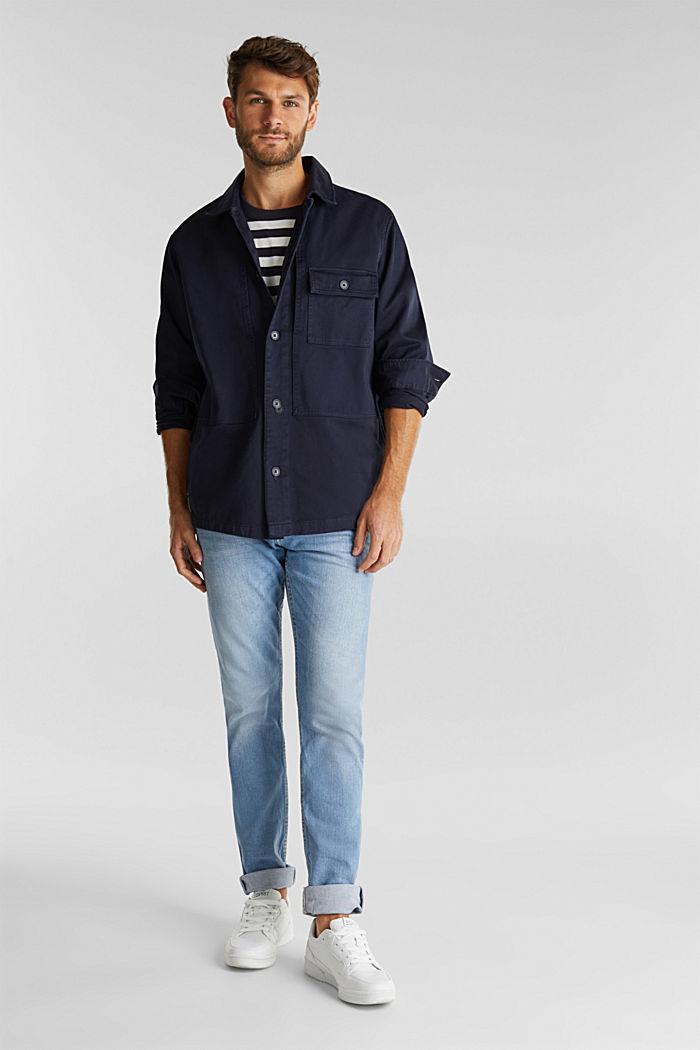 Model přes tričko, ze 100% bio bavlny, NAVY, detail image number 1
