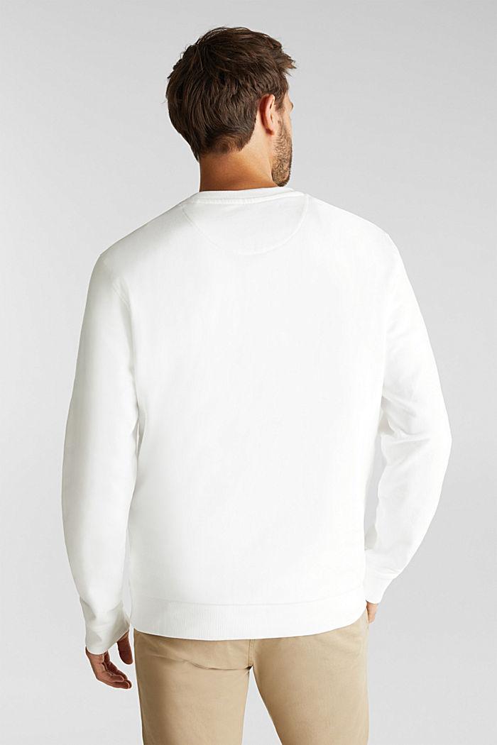 Logo sweatshirt made of 100% organic cotton, OFF WHITE, detail image number 3