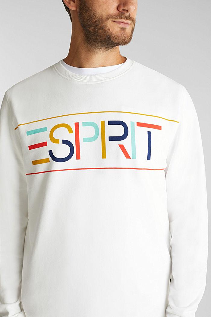 Logo sweatshirt made of 100% organic cotton, OFF WHITE, detail image number 2