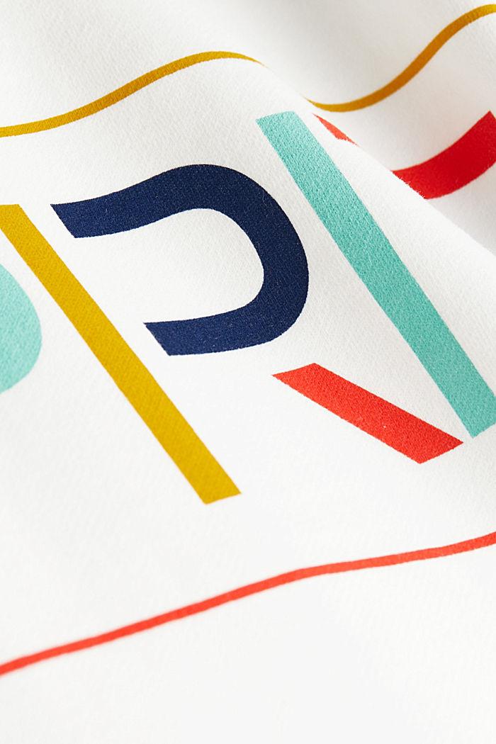 Logo sweatshirt made of 100% organic cotton, OFF WHITE, detail image number 4