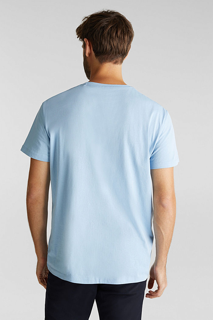 Jersey top made of 100% organic cotton, LIGHT BLUE, detail image number 3