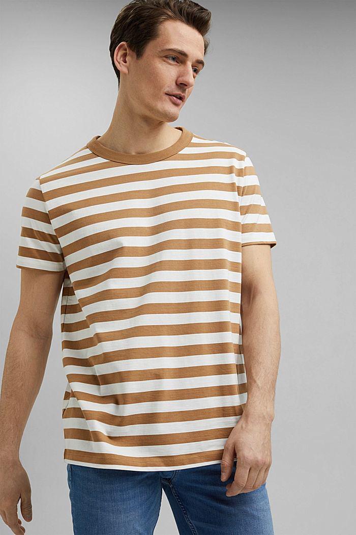 Jersey-T-Shirt aus 100% Organic Cotton, CAMEL, detail image number 0