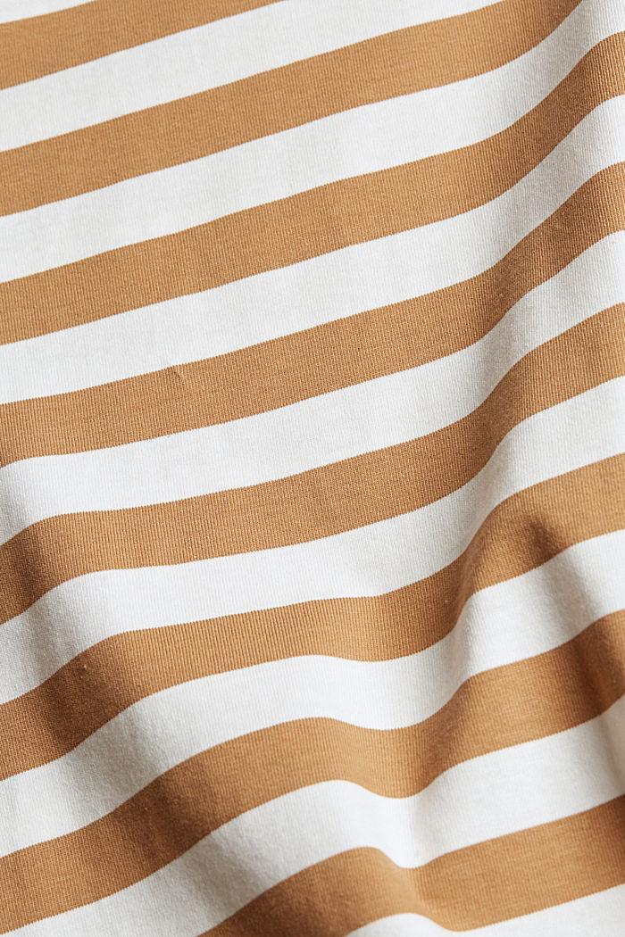 Jersey-T-Shirt aus 100% Organic Cotton, CAMEL, detail image number 4