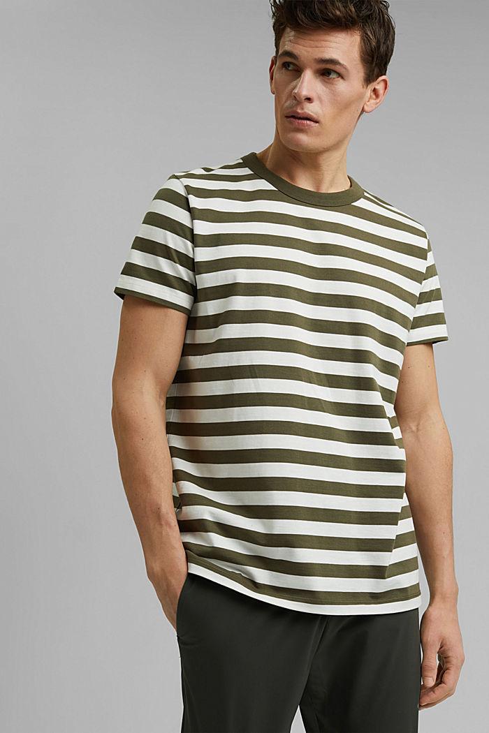 Jersey T-shirt made of 100% organic cotton, DARK KHAKI, detail image number 0