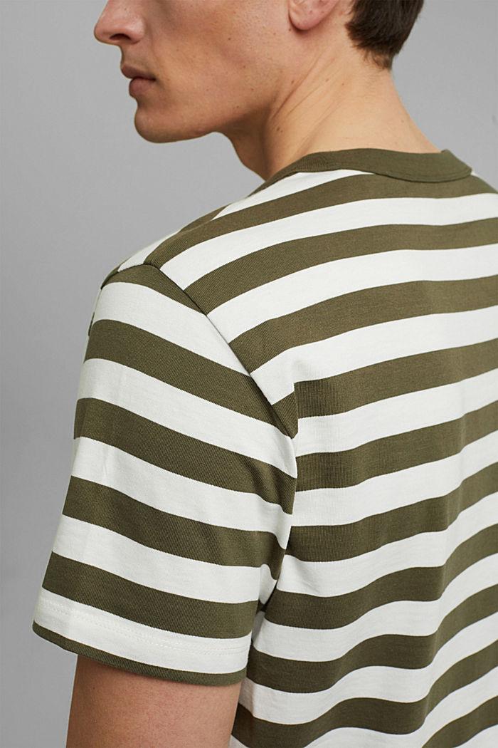 Jersey T-shirt made of 100% organic cotton, DARK KHAKI, detail image number 1