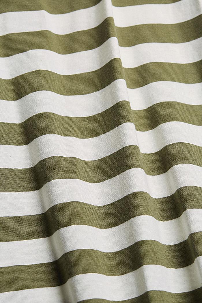 Jersey T-shirt made of 100% organic cotton, DARK KHAKI, detail image number 5