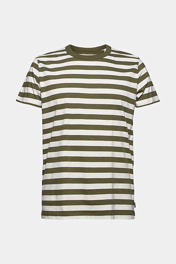 Jersey T-shirt made of 100% organic cotton, DARK KHAKI, detail image number 7