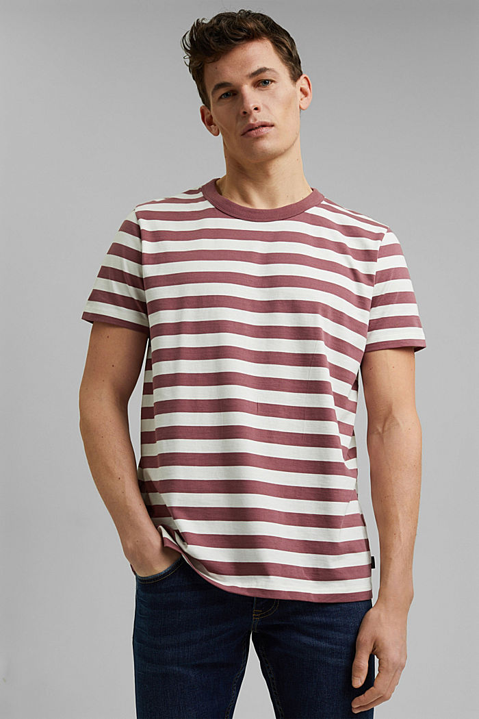 Jersey T-shirt made of 100% organic cotton, BERRY RED, detail image number 0