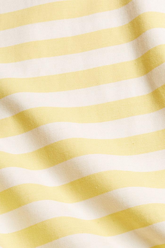 Jersey T-shirt made of 100% organic cotton, LIGHT YELLOW, detail image number 5