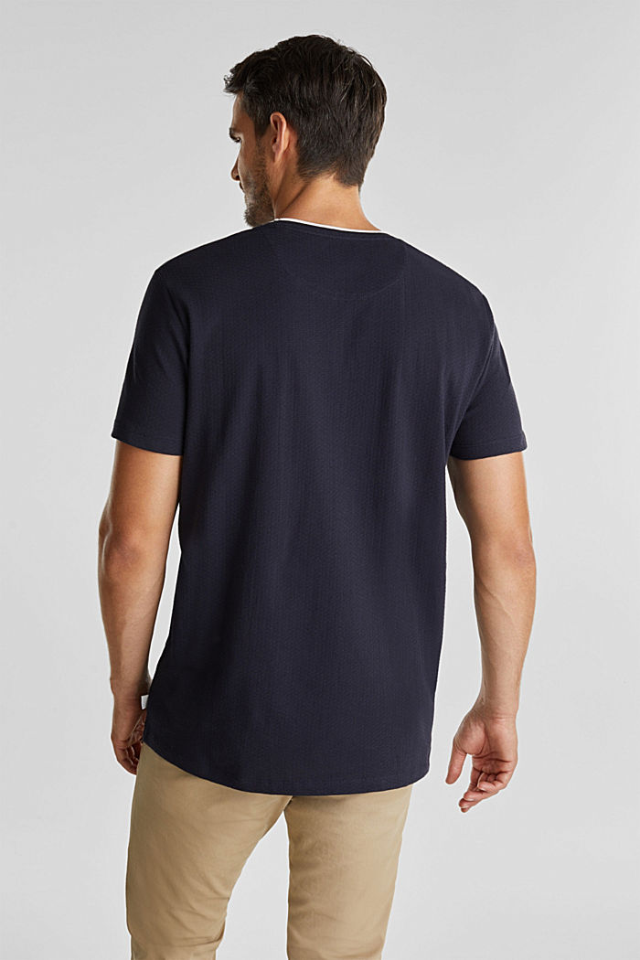 Layered jersey T-shirt, 100% organic cotton, NAVY, detail image number 3