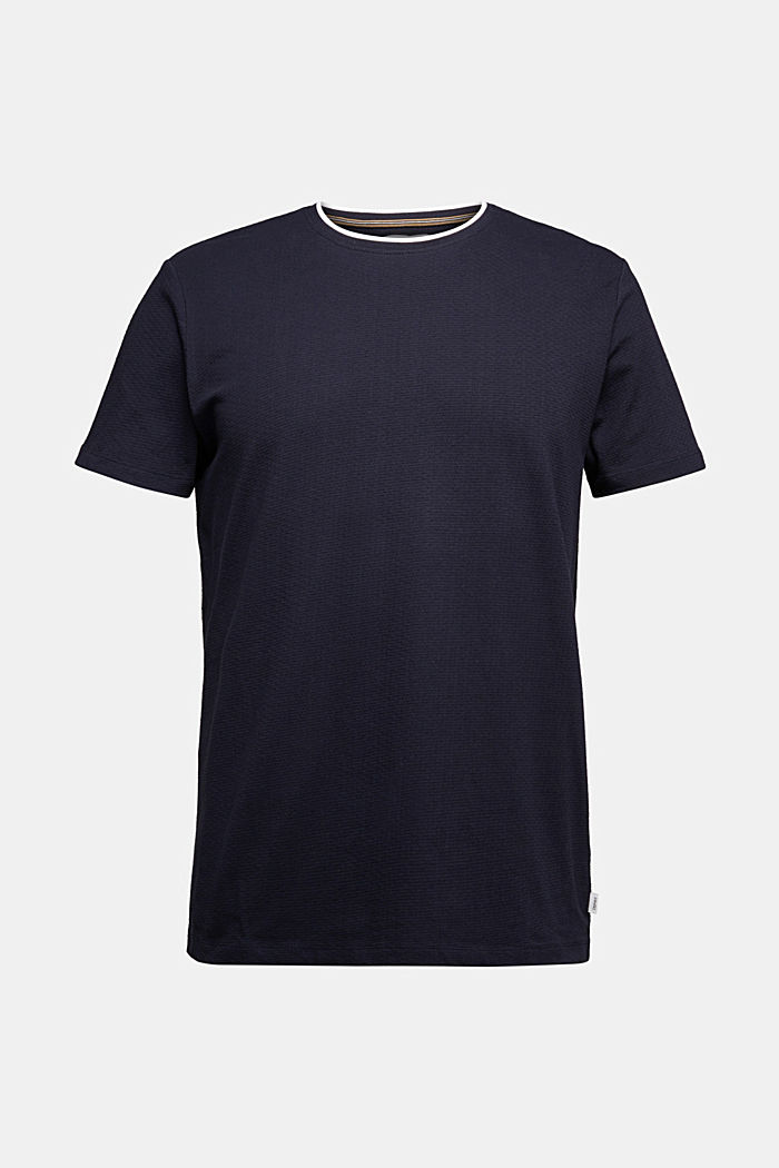Layered jersey T-shirt, 100% organic cotton, NAVY, detail image number 5