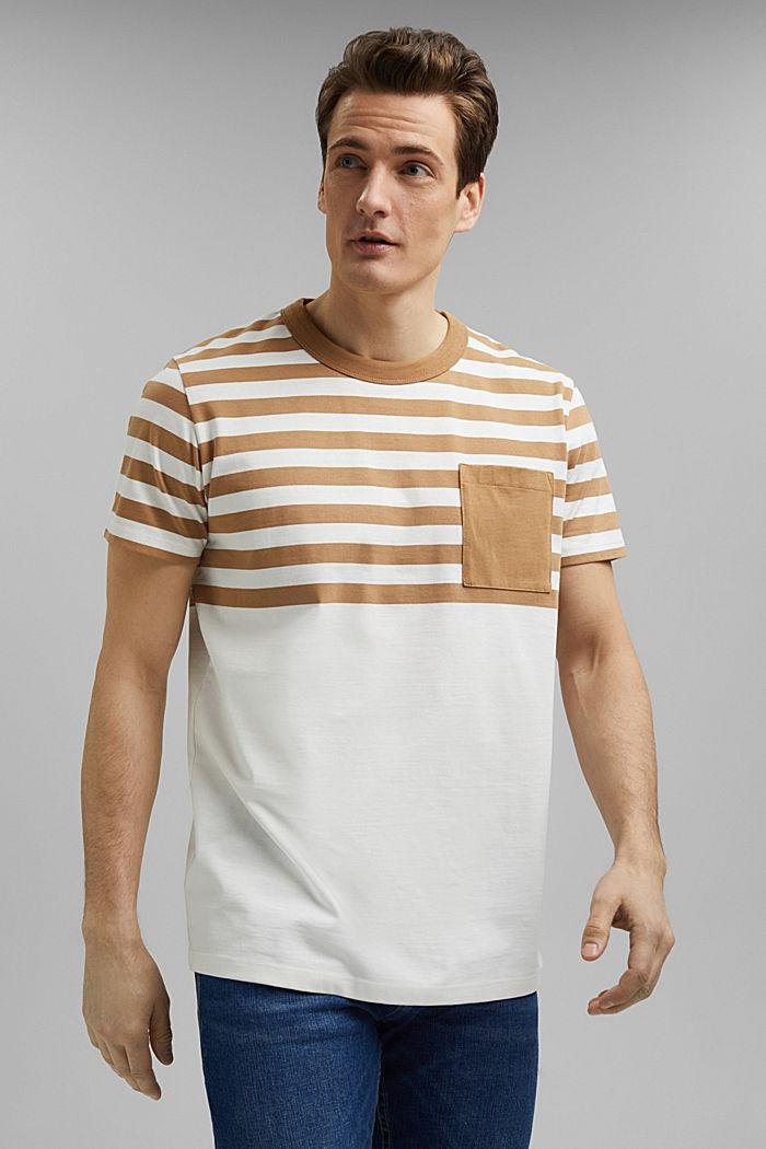 Jersey-Shirt aus 100% Organic Cotton, CAMEL, detail image number 0