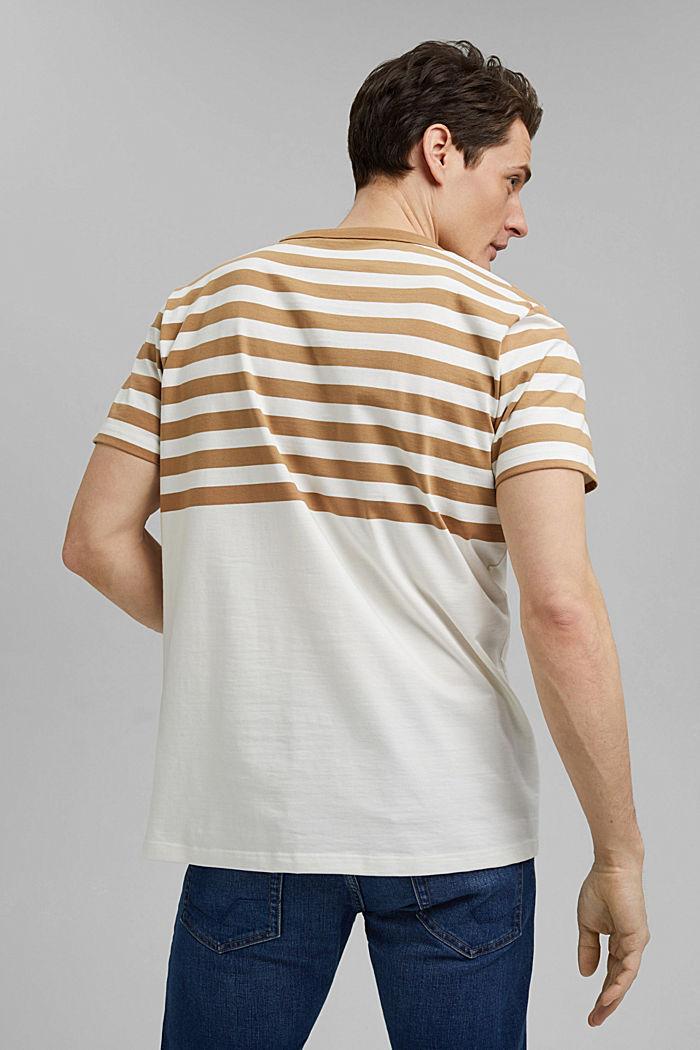 Jersey-Shirt aus 100% Organic Cotton, CAMEL, detail image number 3