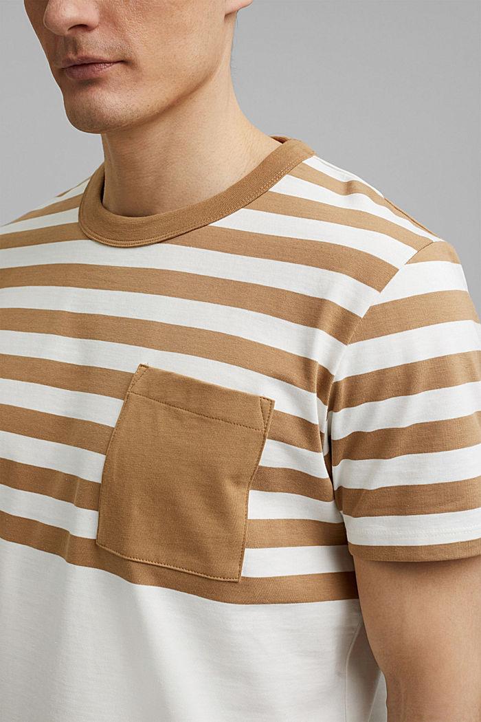Jersey-Shirt aus 100% Organic Cotton, CAMEL, detail image number 1