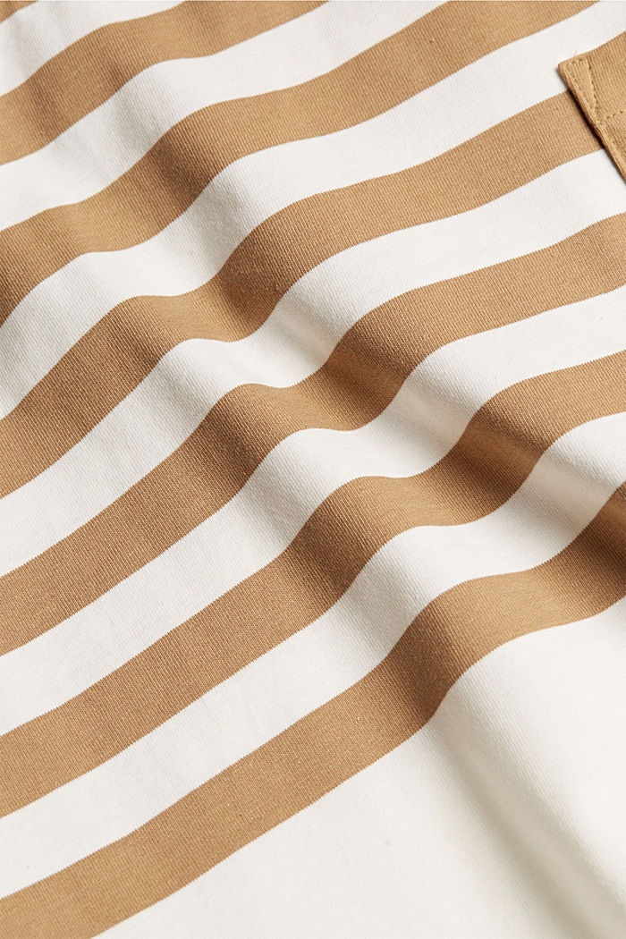 Jersey-Shirt aus 100% Organic Cotton, CAMEL, detail image number 5