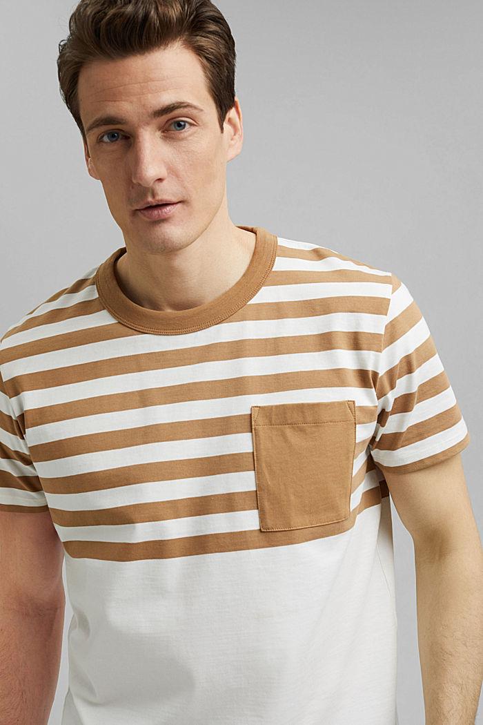 Jersey-Shirt aus 100% Organic Cotton, CAMEL, detail image number 6