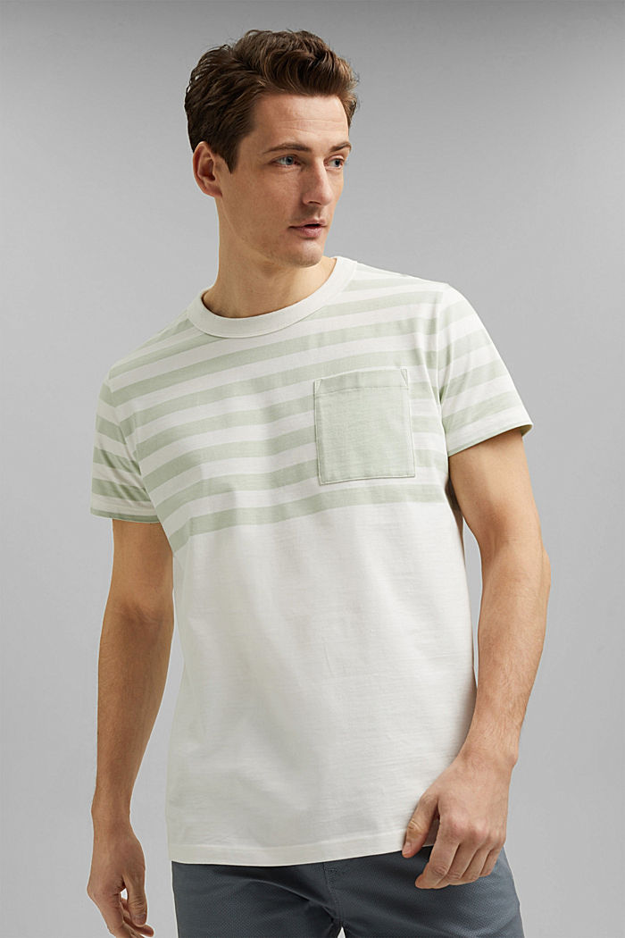 Jersey-Shirt aus 100% Organic Cotton, PASTEL GREEN, detail image number 0