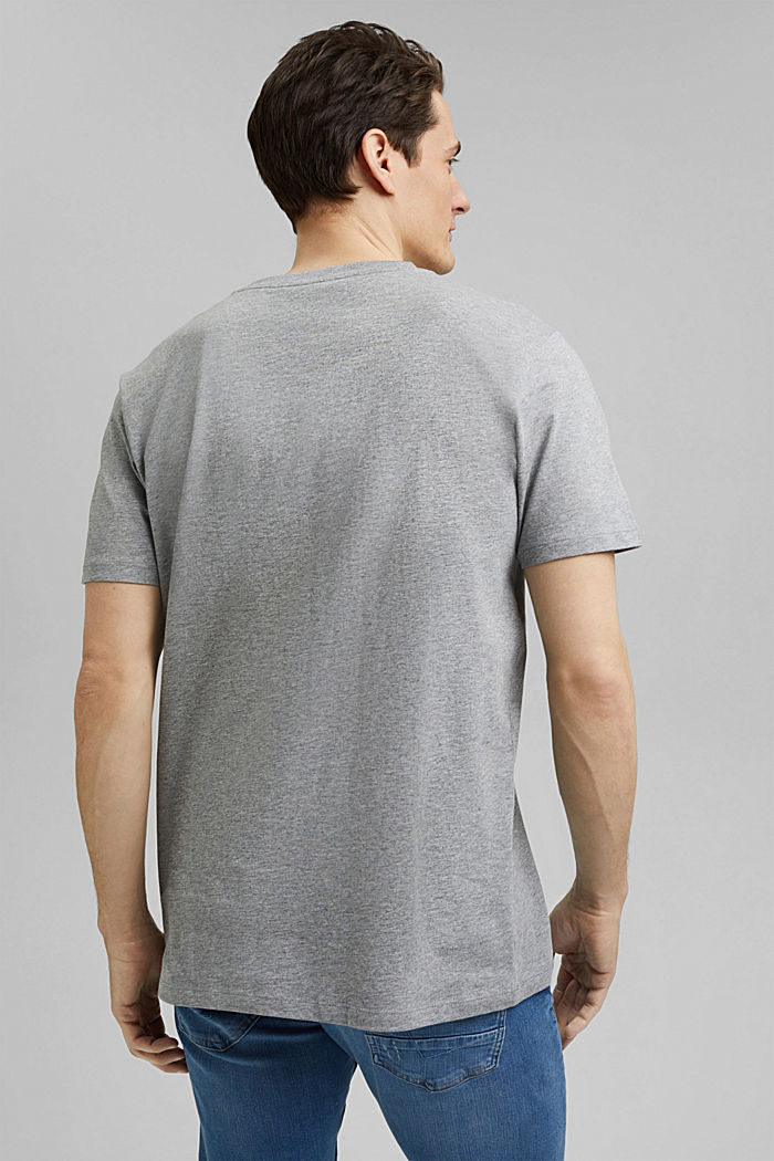 Jersey T-shirt made of 100% organic cotton, MEDIUM GREY, detail image number 3