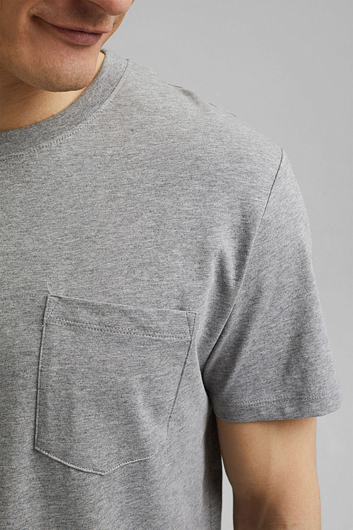 Jersey T-shirt made of 100% organic cotton, MEDIUM GREY, detail image number 1