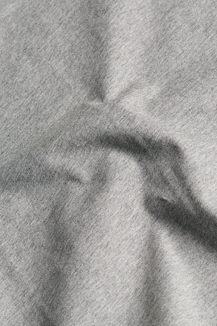 Jersey T-shirt made of 100% organic cotton, MEDIUM GREY, detail image number 5