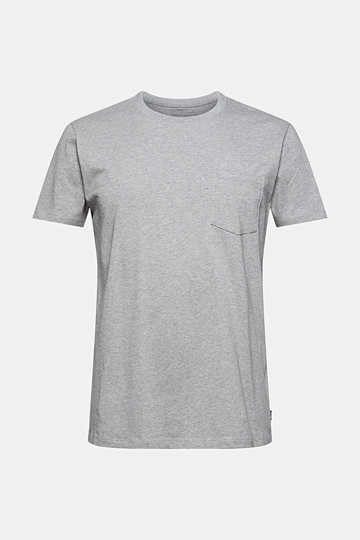Jersey T-shirt made of 100% organic cotton, MEDIUM GREY, detail image number 7