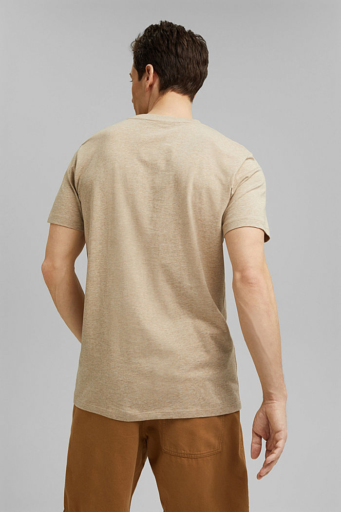 Jersey T-shirt made of 100% organic cotton, LIGHT BEIGE, detail image number 3