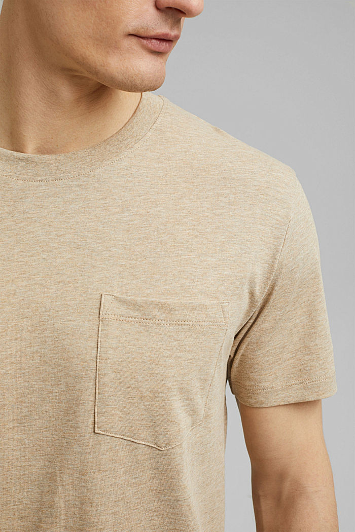 Jersey T-shirt made of 100% organic cotton, LIGHT BEIGE, detail image number 1