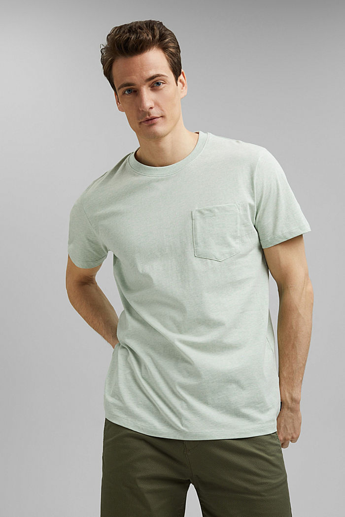 Jersey T-shirt made of 100% organic cotton, PASTEL GREEN, detail image number 0
