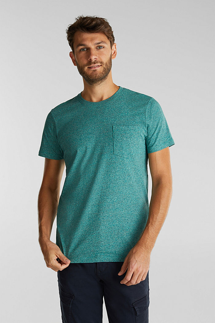 Jersey top in 100% organic cotton, AQUA GREEN, detail image number 0