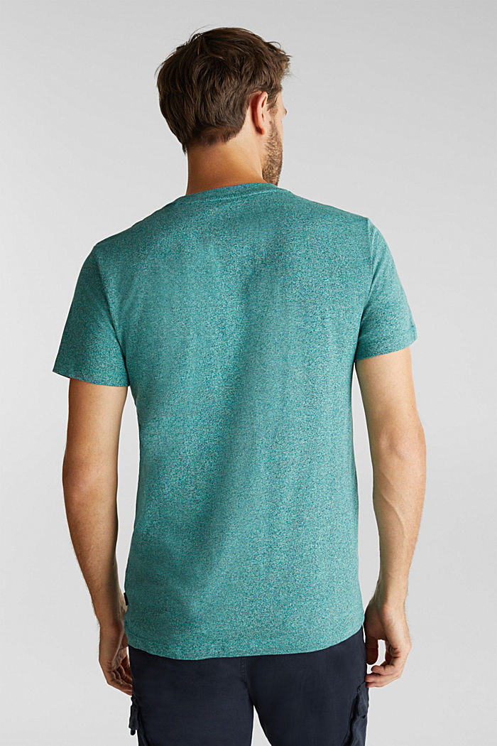 Jersey top in 100% organic cotton, AQUA GREEN, detail image number 3