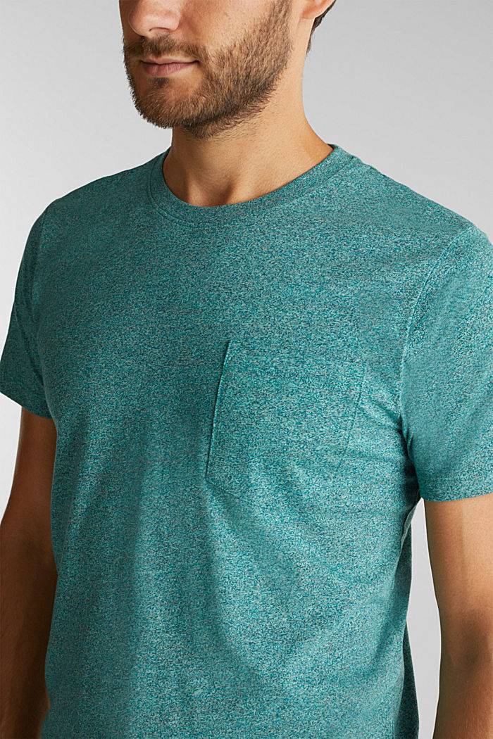 Jersey top in 100% organic cotton, AQUA GREEN, detail image number 1
