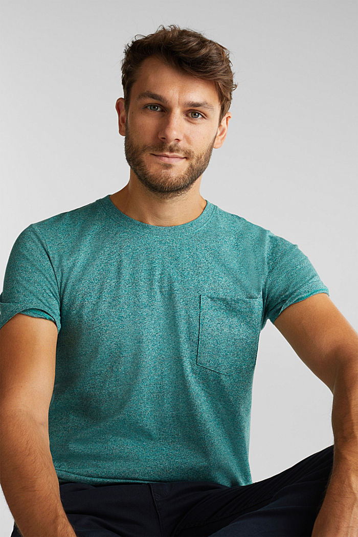 Jersey T-shirt made of 100% organic cotton, AQUA GREEN, detail image number 5