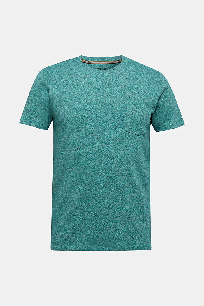 Jersey top in 100% organic cotton, AQUA GREEN, detail image number 6
