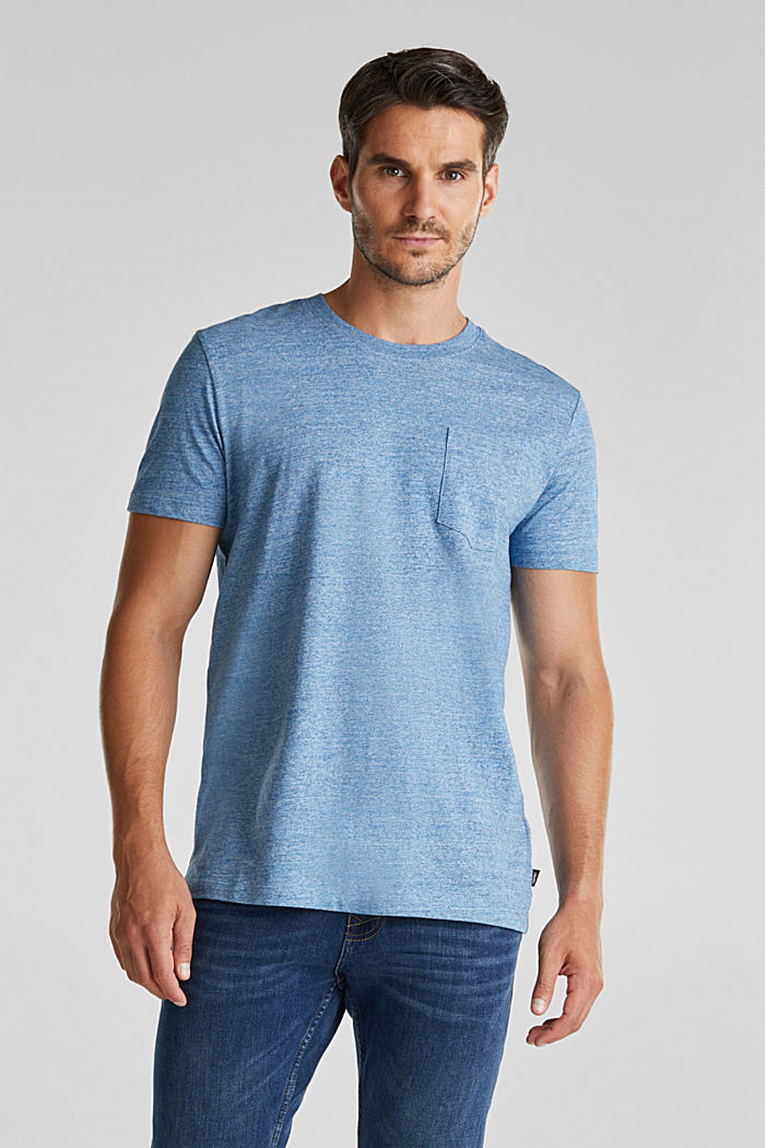 Jersey top in 100% organic cotton, LIGHT BLUE, detail image number 0