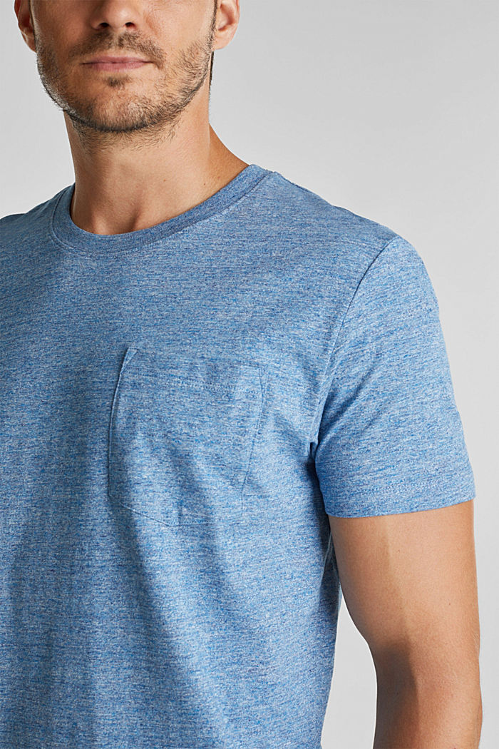 Jersey T-shirt made of 100% organic cotton, LIGHT BLUE, detail image number 1