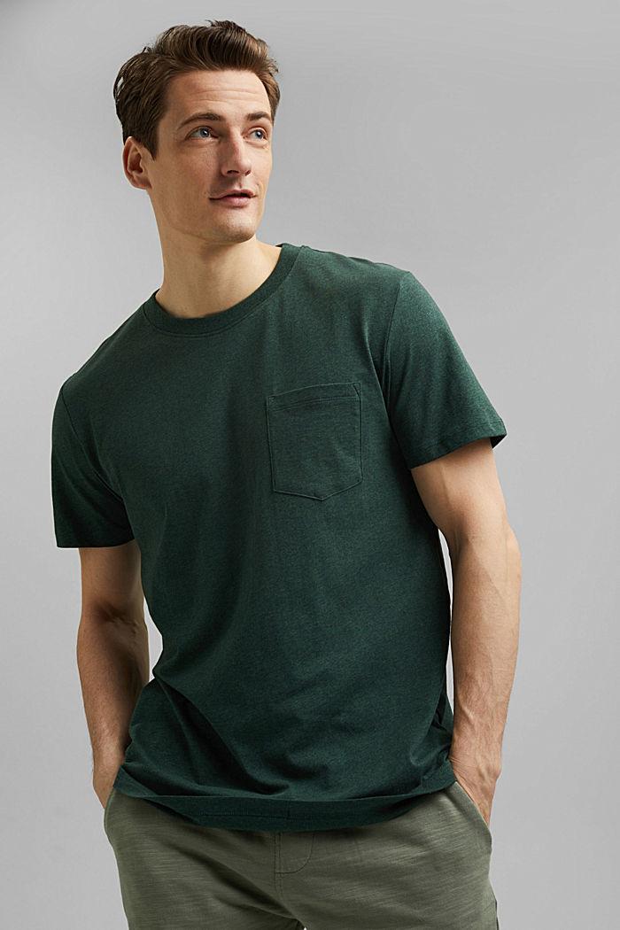 Tričko z žerzeje ze 100% bio bavlny, TEAL BLUE, detail image number 0